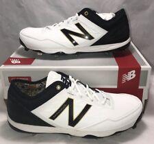 New Balance Mens Size 12 Minimus Baseball Cleats White Gold Black Metal