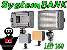 Flash d'anneau 160 LED Lampe Torche Lumière Panneau Lumineux pour DV Caméra DSLR