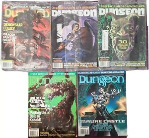 Dungeon Magazines Lot  Dungeons Dragons Role Play Fantasy Sealed