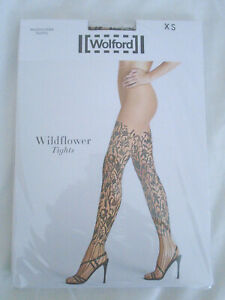 Wolford Tights Wildflower Gobi / Black Size XS New