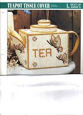Teapot Tissue Cover  ~  plastic canvas pattern   ~ Annie's