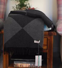 Soft And Warm Luxury THROW 100% Wool BLANKET TERRA di SIENA  MADE IN ITALY