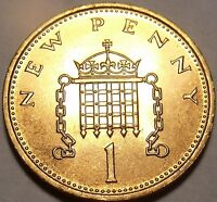 Brilliant Unc Great Britain 1971 New penny~1st Year Ever Minted~Free Shipping