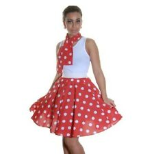 Polka Dot RockNRoll 50's Style Grease Poodle MINI Skirt&Scarf--Length 18""