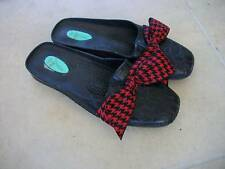 Ladies OLABASHI Oval Black Flats Mules Clogs Shoes
