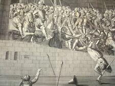 GRAVURE SIÈGE DE PARIS EN 1590