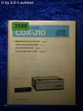 Sony Bedienungsanleitung CDX J10 CD Player (#3598)