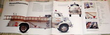 HUGE! HOWE/CHEVROLET 1953 FIRE ENGINE POSTER picture print truck