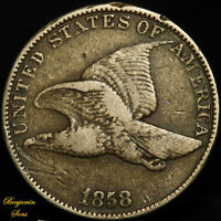 "1858 Flying Eagle Cent 1c ""Large Letters"" 051620-02B"