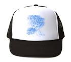 Trucker Hat Cap Foam Mesh Sports Hockey Player Motion Shadow Blue