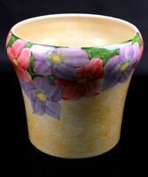 Vintage Radford Hand Painted Studio Art Pottery Vase Flowers Circa 1930s