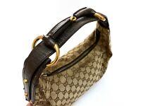 RRP 1280$ - Vintage Auth Gucci Horsebit Medium Beige/Brown Hobo Bag 115867