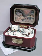 Thomas Kinkade Holiday Merriment 4th Cherisshed Christmas Music Box w/ Coa