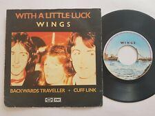 "PAUL McCARTNEY  WINGS WITH A LITTLE LUCK HOLLAND vinyl 7"" BEATLES"
