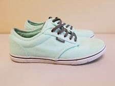 Vans Off The Wall Authentic Mint Green Women's sz 6 Lace Up Shoes Sneakers Skate