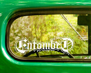 2 ENTOMBED BAND DECAL Bogo Stickers For Car Truck Window Bumper Laptop