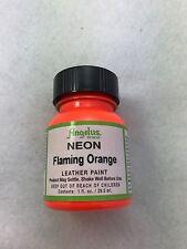 Angelus Acrylic Leather Paint Neon Range 29.5 Ml All Colours Flaming Orange