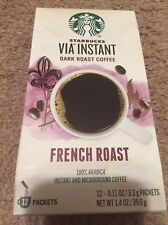6-pack Starbucks Via Instant French Roast Dark Roast Coffee - 72 total packets