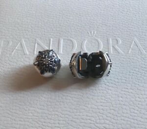 Genuine Pandora Sterling Silver Crystalized Snowflake Clip X 2- 791997NMB