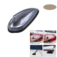 Car Grey SharkFin Style Roof Antenna Aerial FM AM Radio Signal Replacement Décor