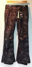 Roxy Women's Wood Run Snowboard Winter Pant Black Dark Gray Floral Medium NEW