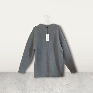 Ninety Percent Chunky Knit Oversized Cashmere Blend Jumper Size M