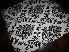 HOBBY LOBBY RUNNER BLACK & WHITE FLORAL MEDALLION 100% COTTON 16 X 66