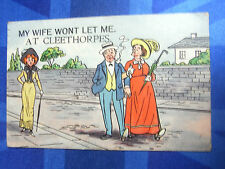 Comic Postcard 1910s CLEETHORPES Theme - MY WIFE WONT LET ME