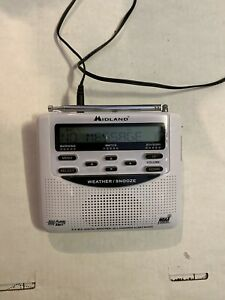 Midland Weather Radio Monitor With All Hazards Alert WR-100 W/ Alarm Clock NOAA