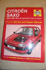CITROEN SAXO HAYNES SERVICE & REPAIR MANUAL PETROL DIESEL Td 1996-2001 N-X