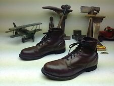VINTAGE DISTRESSED KNAPP OXBLOOD LEATHER LACE UP STEEL TOE ENGINEER BOOTS 11.5E