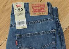 Levi's 550 jeans 26 x 26 NWT boys' 12 reg denim relaxed adjustable waist
