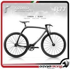 Rizoma R77 MetropolitanBike Bicicletta Telaio Nero Carbonio + Ruote Nere