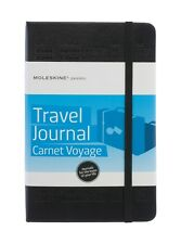 Moleskine Passions Travel Journal 240 Pages A5 Size Embossed Cover Black