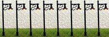Pack of 8 Decorative Black Street Lights N Gauge 12 Volt SM34-5