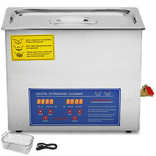 New 6L Ultrasonic Cleaner Stainless Steel Industry Heater w/Timer