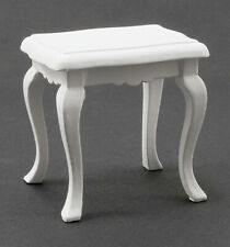 Dollhouse Miniatures 1:12 Scale Side Table, White #CLA10300