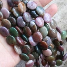 "Genuine 13x18mm Natural India Agate Onyx Oval Gemstone Loose Beads 15"" AAA"