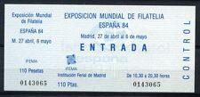 España 1984 España 84 exposición de sellos Billete #a 40093