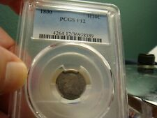 1800 Draped Bust Half Dime _ PCGS F-12 _ No Problems Here !!!
