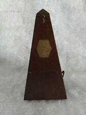 Early Maelzel Seth Thomas Metronome Wood Case Piano Clock Timer Pendulum