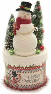 Bethany Lowe - Christmas - Retro Snowman on Box - TL7824