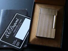 Beautiful Patterned S T Dupont Line 2 Large Gold Plated Lighter-Boxed Papers