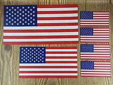 American Flag Magnets ~ Set of 6 Magnets 3 Sizes Patriotic USA Car Fridge Decals