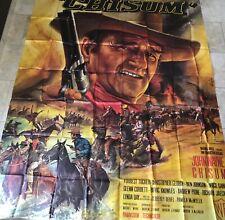 Affiche de cinéma de 1970, film CHISUM, John Wayne, Western Poster 230x310