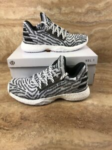 Adidas Harden Vol. 1 LS PK Primeknit Youth GS Shoes White Gray