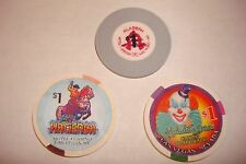 ALADDIN , HACIENDA , HOLIDAY INN 3 MINT GEM $1 CASINO CHIPS