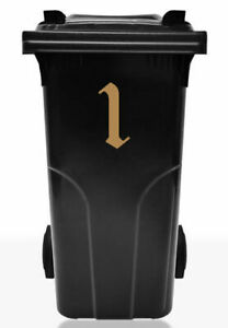 Trash Can Sticker number Heptarchy Series, 20cm, Dustbin Sticker Label