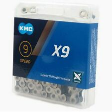 KMC X9 chain,116 link with Missing Link , Silver