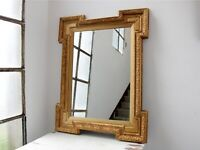 19th Century Shaped Gilt Wall Mirror